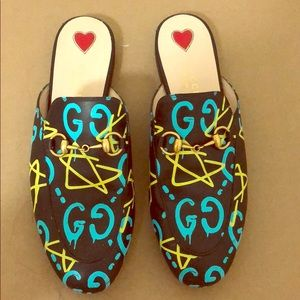 Gucci Ghost Princetown Mules Size 37 Retail $750
